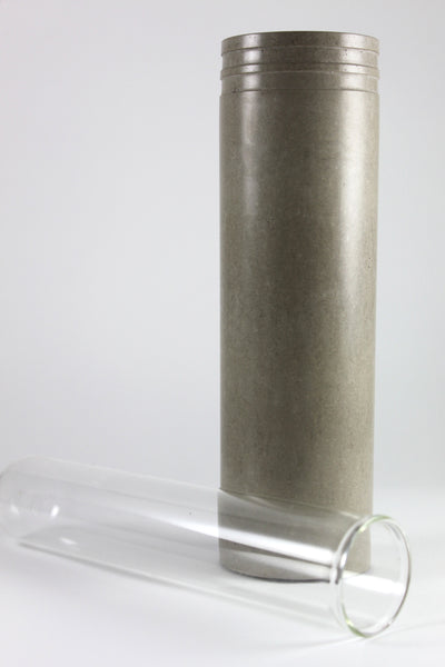 Grey Recycled Concrete Flower Vase
