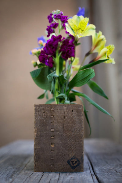 Floating Wood Flower Stand with Five Bottles