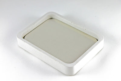 White Concrete Soap Dish