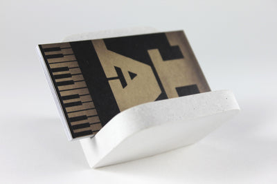 White Concrete Business Card Holder