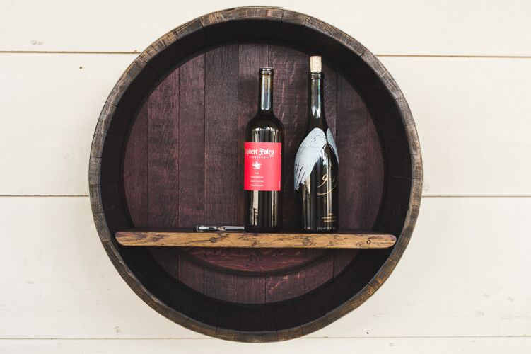 Wine Barrel Wall Display Shelf