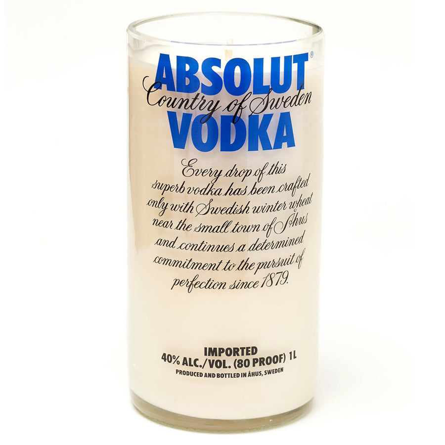 Absolut Vodka Bottle Candle
