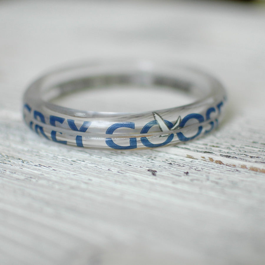Repurposed Grey Goose Glass Bangle Set