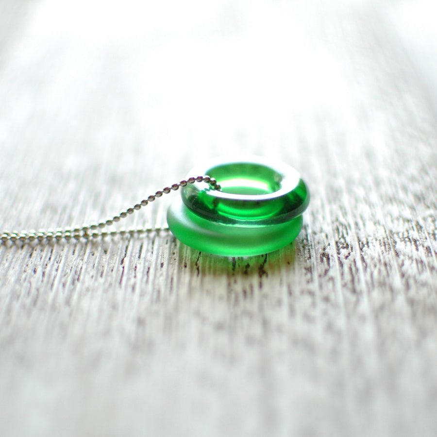 Recycled Jameson Bottle Duo Long Necklace
