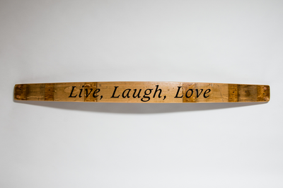 Live, Laugh, Love Barrel Stave Sign