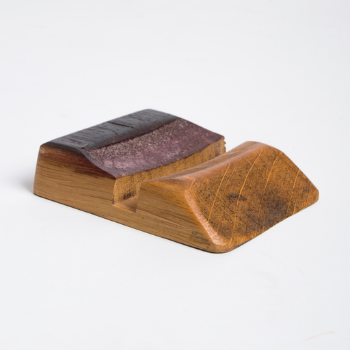 Wine Barrel Business Card Holder