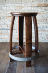Barrel Head Counter Stool with Swivel