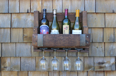 Wine Barrel Wall Wine Rack