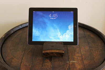 Whiskey Barrel iPad Holder