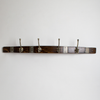 Large Banded Coat Hook with Brass Hooks