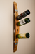 Banded 6 Bottle Wall Wine Rack
