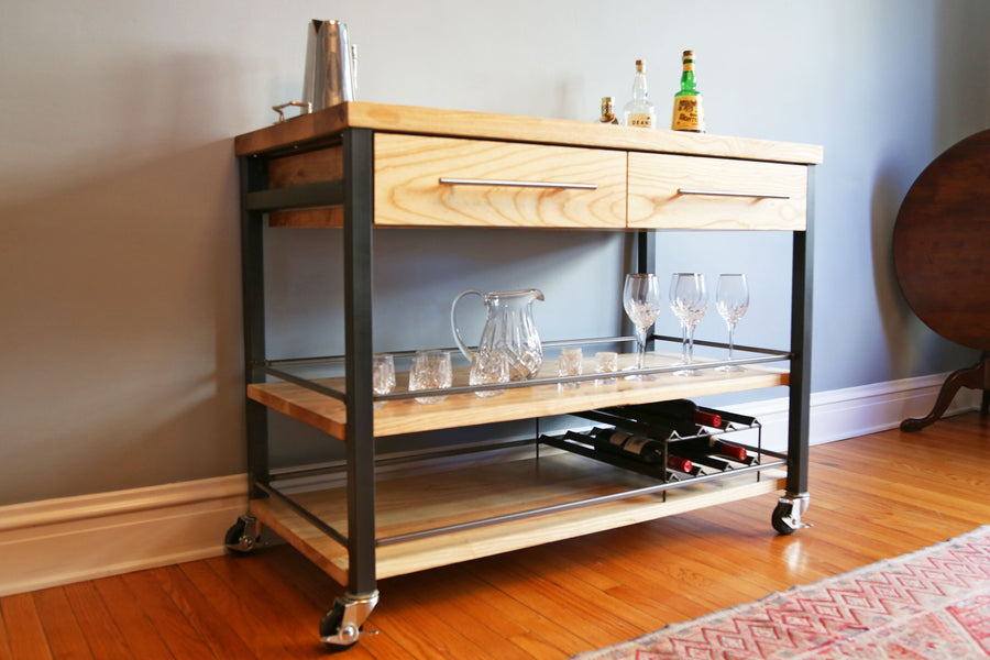 White Oak Bar Cart