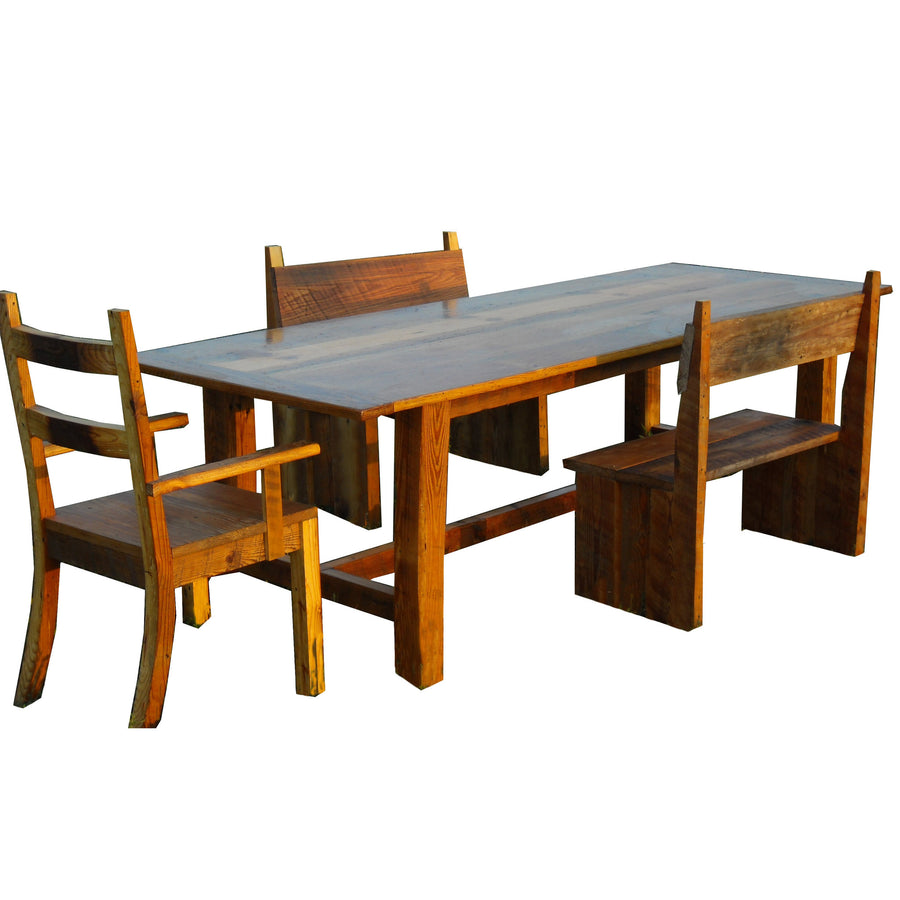 Rusted Nail Reclaimed Wood Dining Set