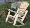 Baseball Bat Log Rocking Chair