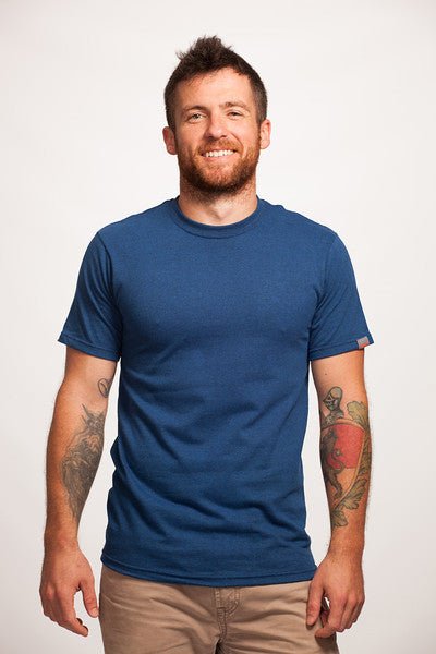Blue Short Sleeve Recycled T-Shirt