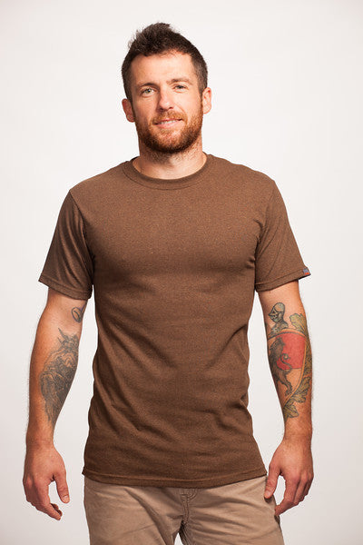 Brown Short Sleeve Recycled T-Shirt