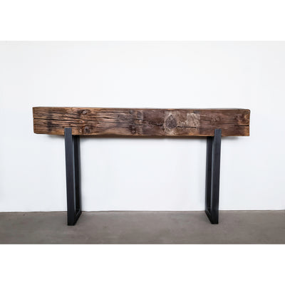 Wood Beam Console Table