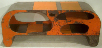 Bedrock Orange Reclaimed Sheet Metal Credenza