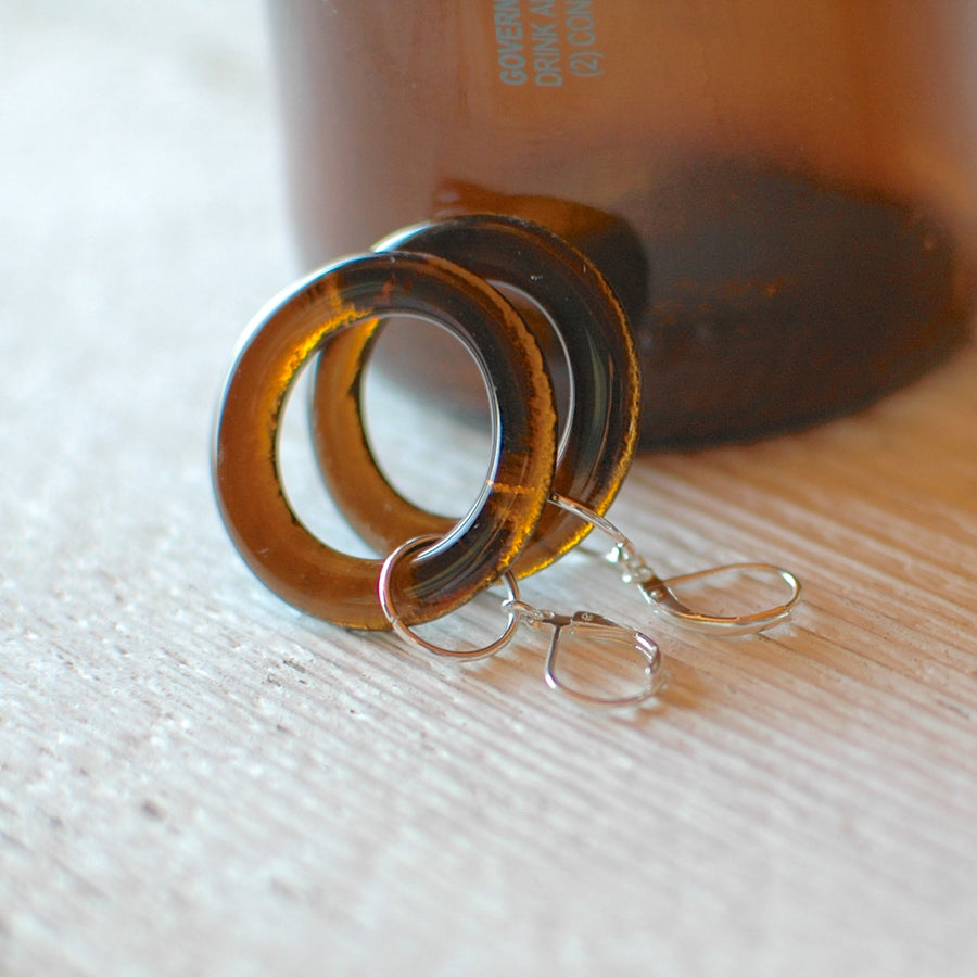 Beer Bottle Hoop Earrings