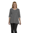 Begonia Eco-Friendly Top - Black/White