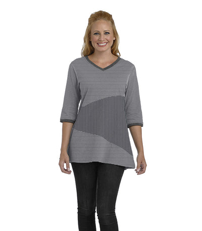 Begonia Eco-Friendly Top - Charcoal/Cloud