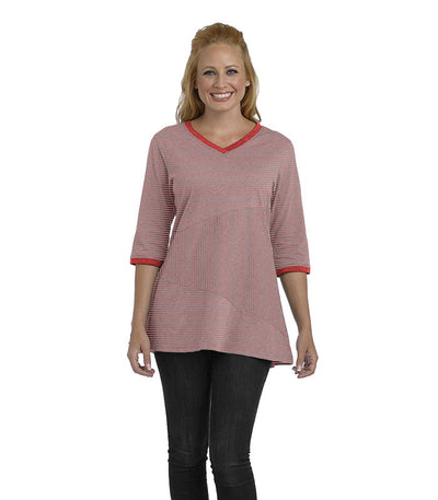 Begonia Eco-Friendly Top - Coral/Ash