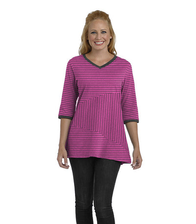 Begonia Eco-Friendly Top - Fuchsia/Black