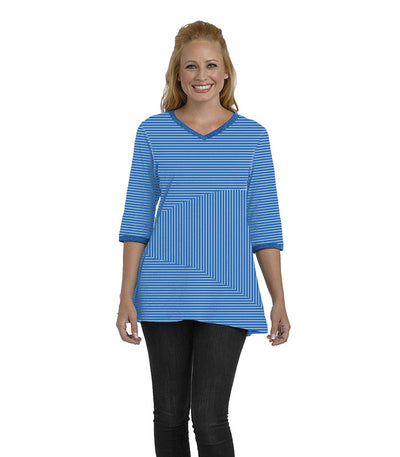 Begonia Eco-Friendly Top - Sapphire/Turquoise