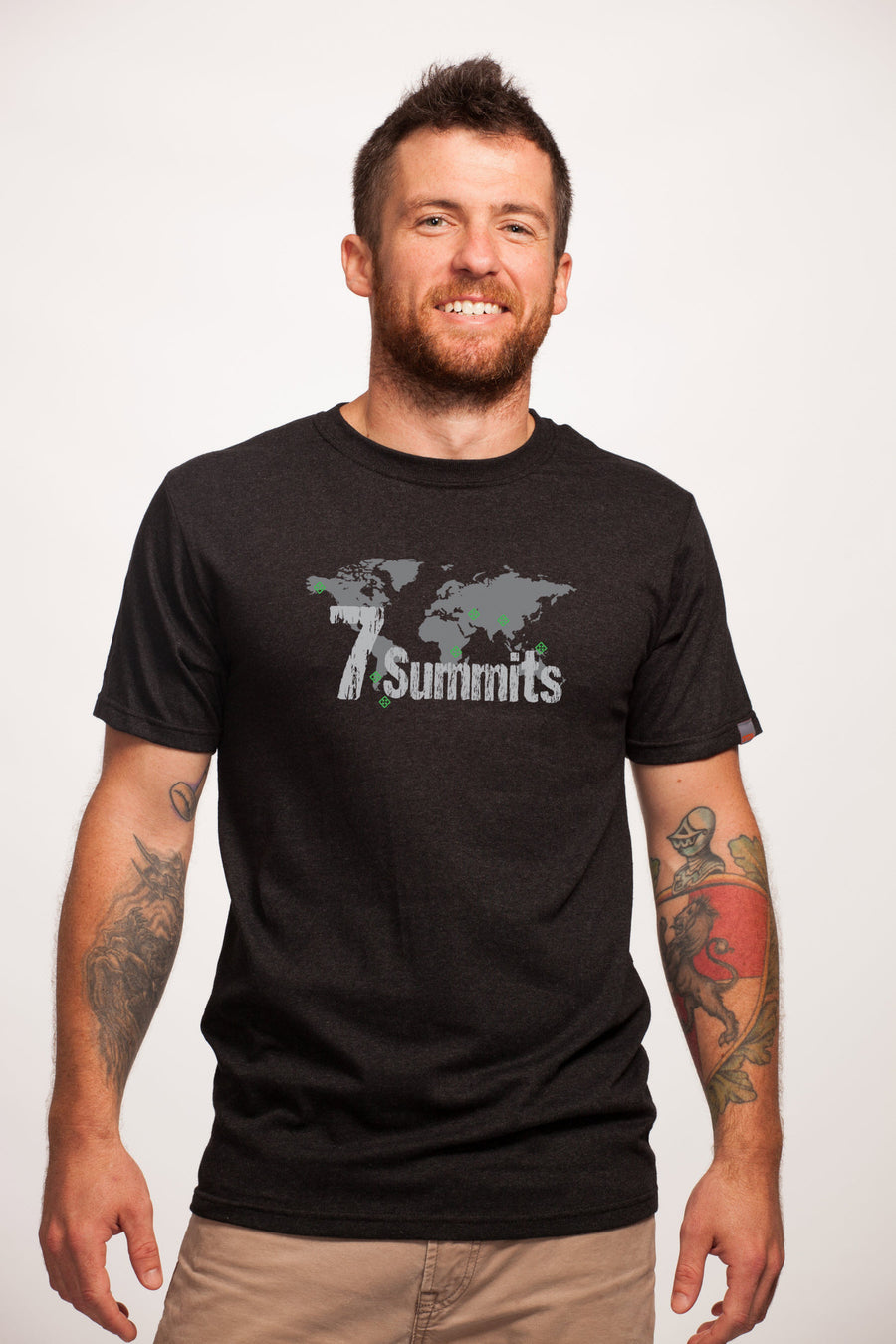 7 Summits Black Recycled T-Shirt