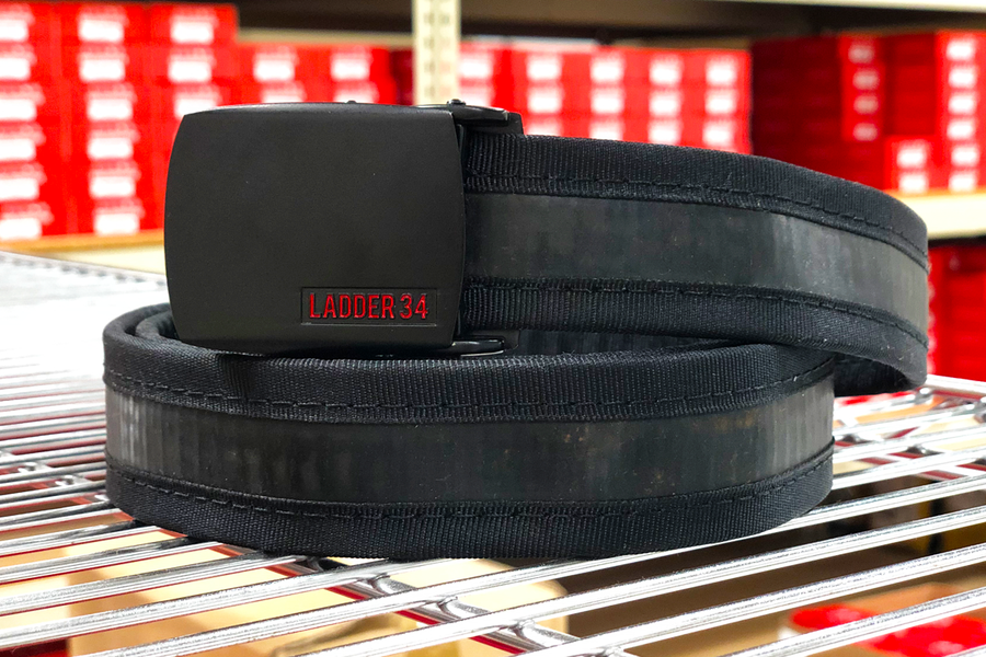 Black Fire Hose Belt