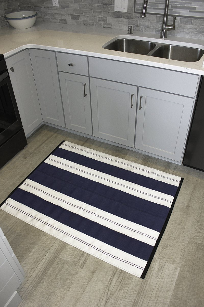 Blue Fire Hose 3x4 Rug