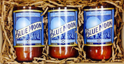 Blue Moon Beer Bottle Candles