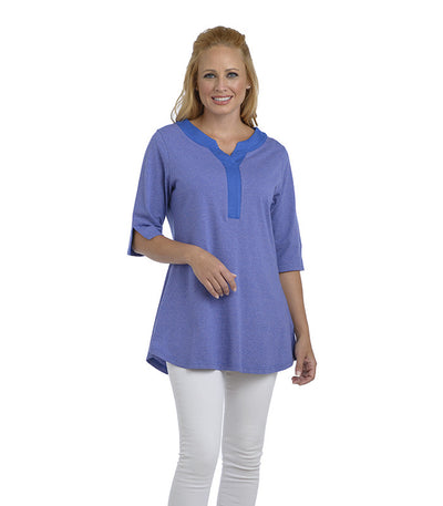 Blume Tunic Eco-Friendly Top - Lilac/Sapphire