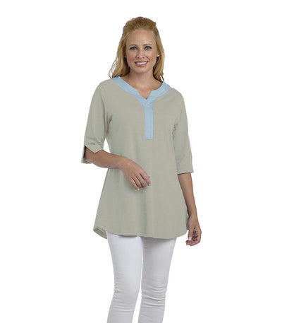 Blume Tunic Eco-Friendly Top - Sky/Sand