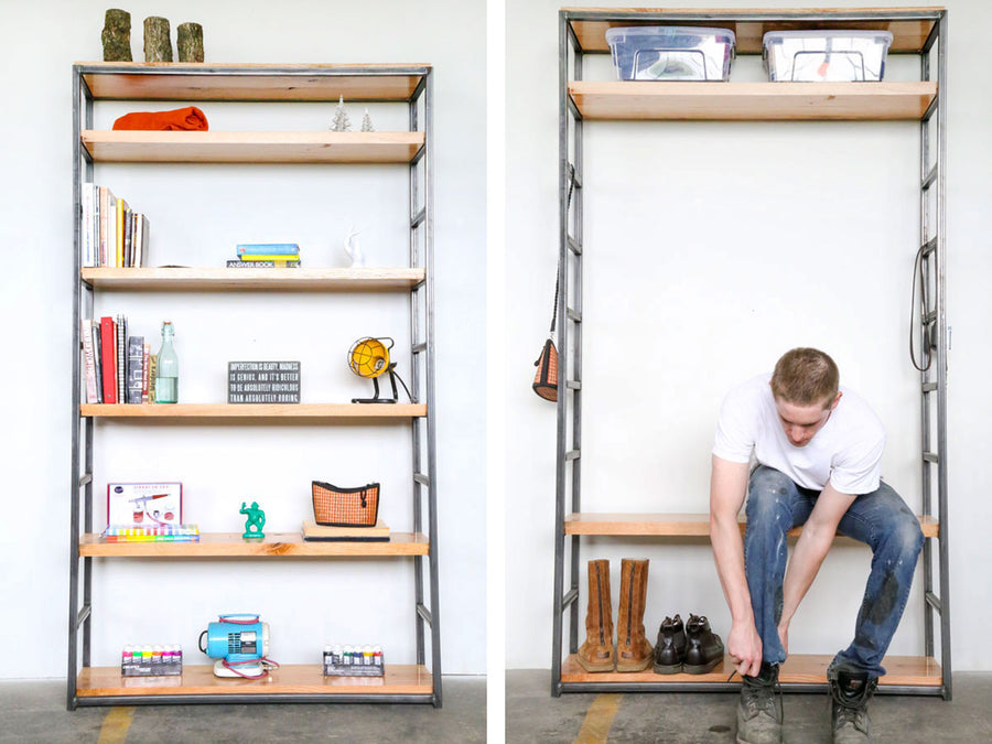 Two-in-One Bookshelf and Bench