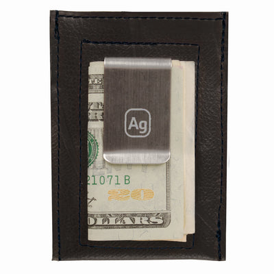 Bryant Upcycled Money Clip Wallet - Black Trim