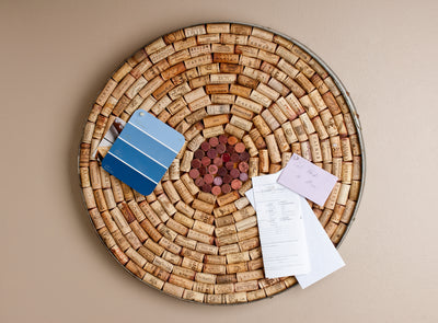 Round Wine Barrel Bulletin Board