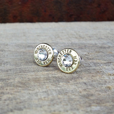 Bullet Earrings with Swarovski Crystals