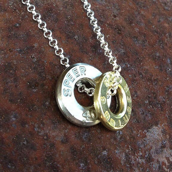 Upcycled Bullet Casing 2-Piece Necklace