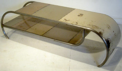 Capsule Reclaimed Metal Coffee Table in Beige