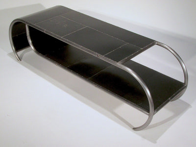 Capsule Reclaimed Metal Coffee Table in Black