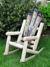 Children's Snow Ski Log Rocking Chair