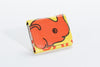 Classic Reclaimed Rice Bag Wallet - Orange Elephant