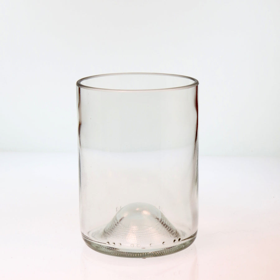 Clear Short Recycled Bottle Glass