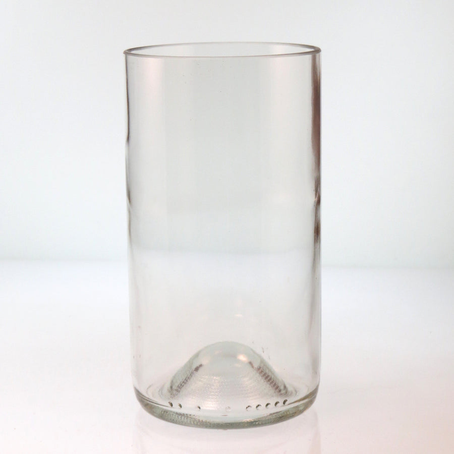 Clear Tall Recycled Bottle Glass