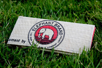 Elephant Branded Cement Bag Clutch Purse