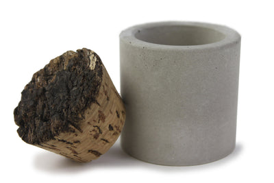 Recycled Concrete Salt Cellar or Spice Jar with Cork