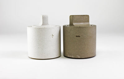Recycled Concrete Salt + Pepper Shaker Set