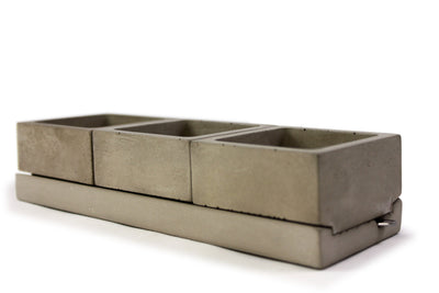 Grey Concrete Salt + Spice Holder