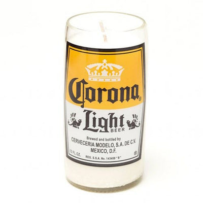 Corona Light Beer Bottle Candle